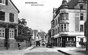 Die Berliner Straße hier an der Einmündung Münsterstraße war Teil der Chaussee