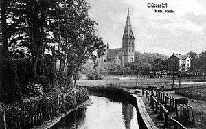 St. Pankratius von der Dalke aus gesehen, um 1910