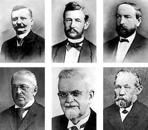 Heinrich Spreen, Heinrich Köhne, Emil von Recklinghausen, Hermann Kühn, Ludwig Schluckebier, Wilhelm Oester