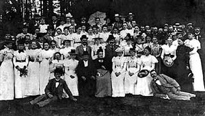 Ausflug eines Gütersloher Gesangsvereins um 1900