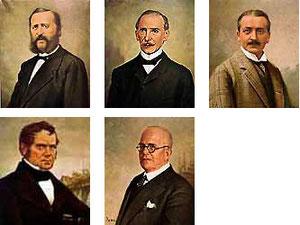 Theodor Düesberg, Bernhard Abraham Bessel, Dr. Wilhelm Engelhard, Friedrich Gerstein, Edwin Adolar Klein