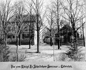 Das povisorische Seminargebäude im Haus Abel an der Lindenstraße