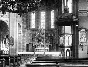 Altarraum um 1910