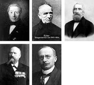 Hermann Chr. Haege, Arnold Rüter, Louis von Schell, Emil Mangelsdorf, Gustav Tummes