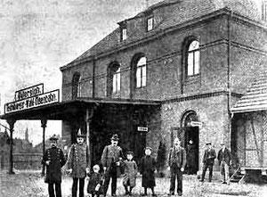 Der Bahnhof der TWE um 1905