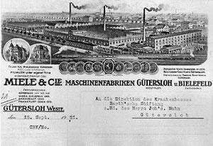Briefkopf mit nahezu realer Firmendarstellung für die Zeit um 1914 bis 1920
