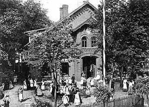 Das Gebäude der Höheren Töchterschule um 1912