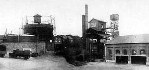 Städtisches Gaswerk an der Herzebrocker Straße um 1925