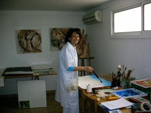 Pilar Baumannen el taller