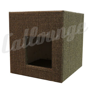Kratzturm Small Pure Edge brown asymetrischer Einstieg