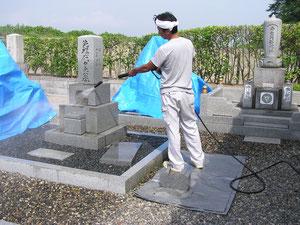 高圧洗浄作業の写真