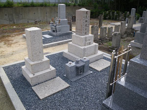 墓石リフォーム完了の写真