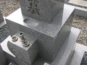 墓石洗浄完了の写真