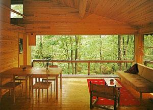 吉村順三の軽井沢山荘  こんな住宅に住めたら仙人になってしまうかもしれません