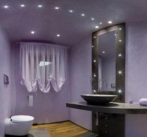 LEDを使った洗面所の照明デザイン