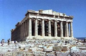 パルテノン神殿 大理石の建築物