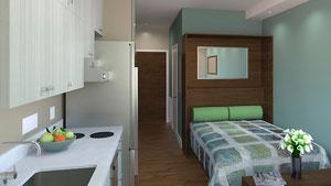ネットに出ていたニューヨークのTiny apartment の写真