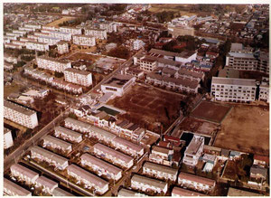 武蔵野市の団地(1969年の航空写真)