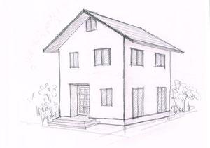 木造の総2階  こんな感じが一番安い住宅のイメージです