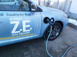 Elekroauto Mobil mit Strom