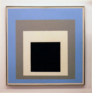 "Josef Albers, ""Hommage to the Square-Assured"", 1954, Öl auf Hartfaser, 82 x 82 cm, gerahmt"