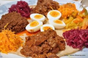 LifeTeria blog ブログ エチオピア料理 インジェラ