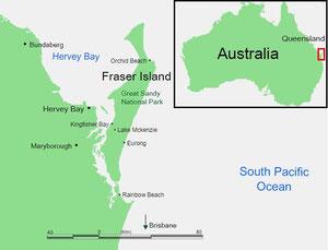 wo liegt Fraser Island?