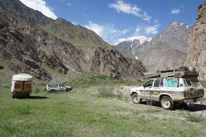 Campieren im Bartangvalley bei Rushan