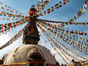 Swayambunath tempel in Kathmandu