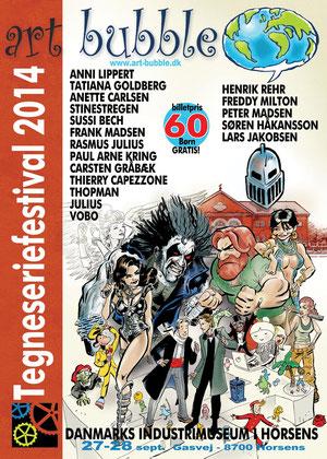 Art Bubble Festivalplakat Dänemark