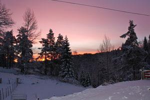 Sonnenaufgang 08:00 Uhr auf Espetveit