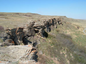 Head-Smashed-In Buffalo Jump in der Provinz Alberta