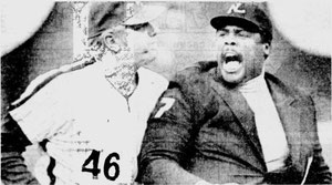 Dallas Green was ejected from the game by umpire Eric Gregg in the eighth inning.