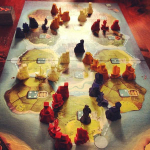 4 Player Catan Junior in full motion!