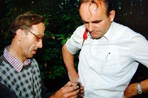 Christoph Kuthe (re) mit seinem Freund Rudolf Ibisch / Foto: H. Matz