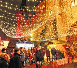 Die Kupferstädter Weihnachtstage werden am kommenden Samstag eröffnet. Dann soll auch auf dem unteren Burghof wieder festliche Stimmung herrschen.