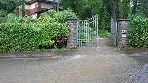 Das Hochwasser Anfang Juli führte zu massiven Schäden an Häusern in Vicht. Foto: J. Lange