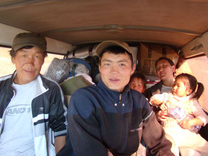 Mongolie mini bus public