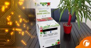 """die Recycling-Box vom NABU (Naturschutzbund Deutschland) unter dem Motto """"Handys für Hummel, Biene und Co."""""""