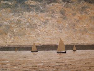 Abendliche Ausfahrt (Öl auf Leinwand, 30 x 40 cm)