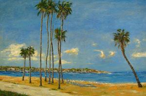 St.Petersburg Beach, oil 24x36, $ 1.700