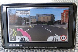 Garmin Navigationsgerät, GPS, für die Gäste der Ferienwohnung Valencia