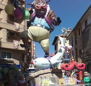 Fallas in Gandia, Ferienwohnung, Valencia, Bild (c) Birgitta