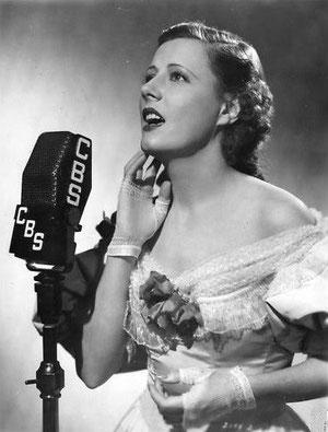 "1936- Irene performing in ""Bitter Sweet"""