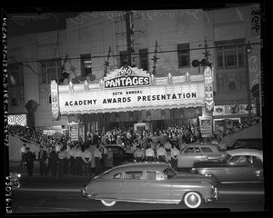 The Pantage Theatre - ready for the 26th Academy Awards