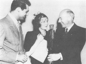 with Cary Grant and Cecil B. DeMille