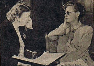"""Getting along"" included picking up a Norwegian accent for I Remember Mama. Here she studies with Judith Sater"