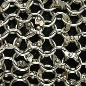 mailles de 8mm fil rond en acier plus rivet tête ronde