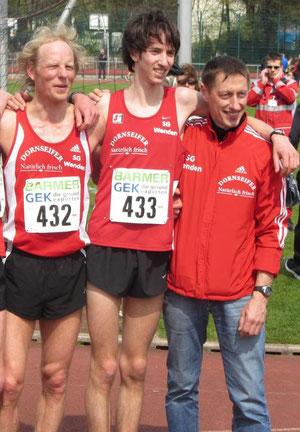 So sehen Sieger aus..... Jörg Heiner, Tim Arne Sidenstein und Egon Bröcher