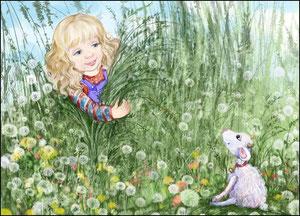Козлёнок заблудится в саду - яв траве его найду.